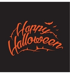 Happy Halloween Background with Hand vector image vector image