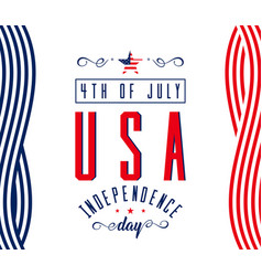 happy independence day - july 4th usa - memorial vector image vector image