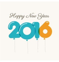happy new year 2016 card balloons font vector image vector image