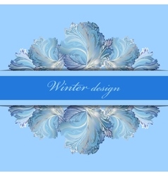 Horizontal stripe border design Winter frozen vector image