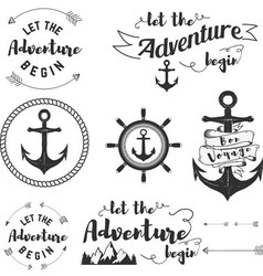 Let adventure begin vector