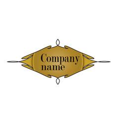 Logo symbol ornate yellow vector