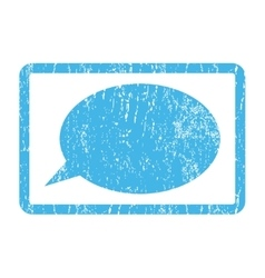 Message Cloud Icon Rubber Stamp vector image vector image