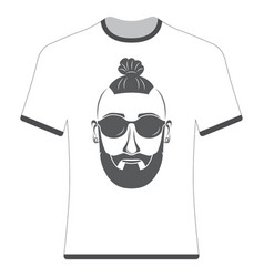 Prints t-shirts with the image of hipsters vector