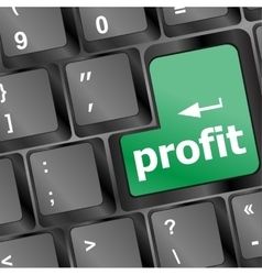 Profit key showing returns for internet business vector
