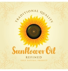 Refined sunflower oil vector