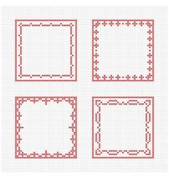 Scandinavian style cross stitch pattern vector