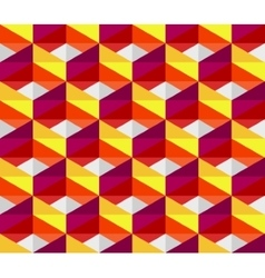 Seamless colorful pink red yellow geometric vector
