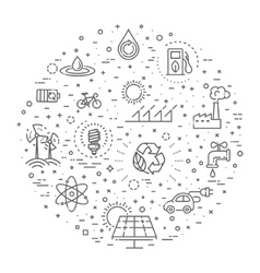 Simple set of eco related line icons vector