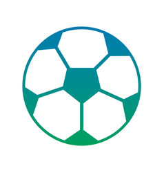 soccer ball sphere object equipment vector image vector image