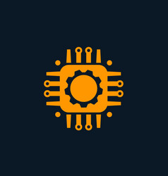Technology circuit board icon vector