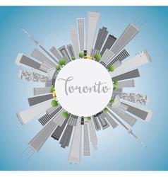 Toronto skyline with grey buildings vector