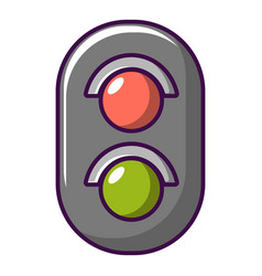 traffic light railway icon cartoon style vector image