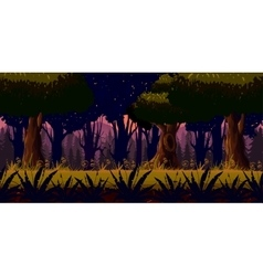 Mystery dark forest background vector