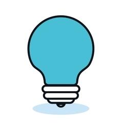 bulb light idea flat icon vector image