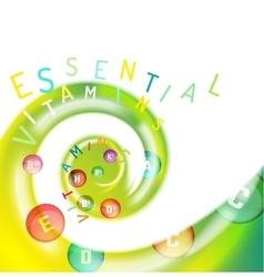 Vitamin Complex Swirl vector image