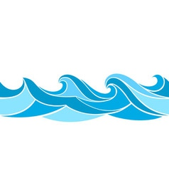 Stylized waves vector