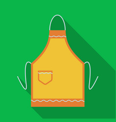 apron icon in flate style isolated on white vector image