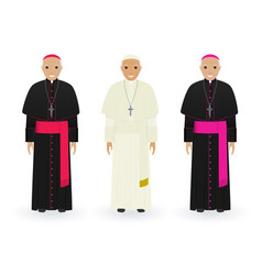 pope cardinal and bishop in characteristic vector image