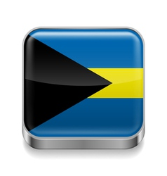 Metal icon of bahamas vector