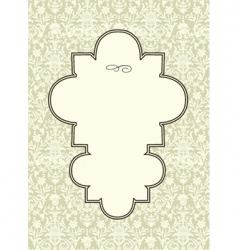 seamless pattern and ornate frame vector image