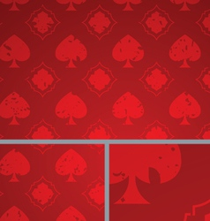 Red vintage poker spade distressed background vector