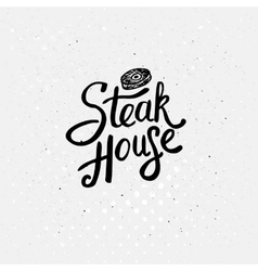 Simple text style for steak house concept vector