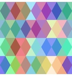 Abstract seamless pattern with colored rhombus vector