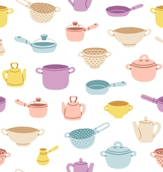 Kitchenware colorful seamless pattern vector