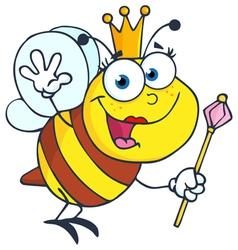 Friendly queen bee vector