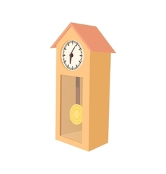 Grandfather clock icon cartoon style vector
