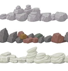 Seamless cartoon stones and bridge for game design vector