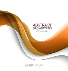 Abstract curved lines background Template vector image vector image
