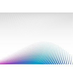 blue and magenta halftone background vector image