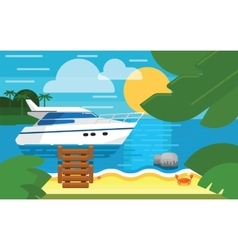 Blue sea and blue sky vector image