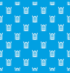 Boat with paddles pattern seamless blue vector