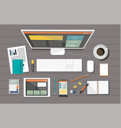 business corporate organization devices vector image