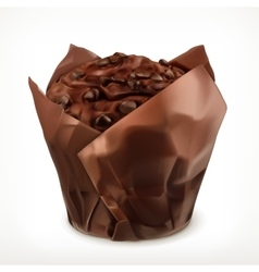 Chocolate muffin icon vector image vector image