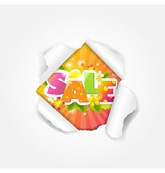 Color Sale Torn vector image vector image