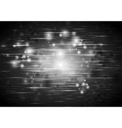 Dark black abstract shiny iridescent background vector
