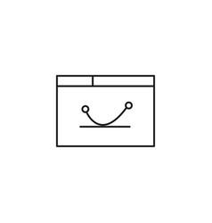 Digital graph icon vector