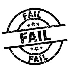 Fail round grunge black stamp vector