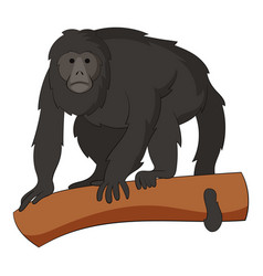 Gibbon icon cartoon style vector