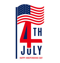 Happy independence day - july 4th usa - memorial vector