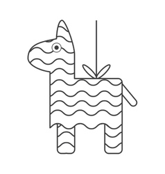 Isolated mexican pinata design vector