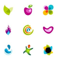 Logo design elements set 38 vector