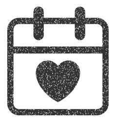 Love day grainy texture icon vector