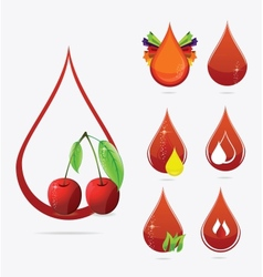 medic creative blood drops set vector image