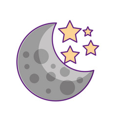 moon stars astronomy universe science vector image vector image