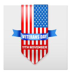 realistic ribbon of american flag vector image vector image